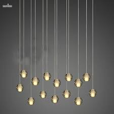 modern magic ball led crystal bubble glass pendant light for dining room globe hotel project lamp