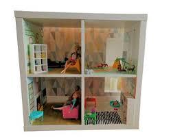 ikea doll furniture. Dolls House; Bedroom, Garden, Lounge \u0026 Kitchen \u2013 Kids Room Furniture Sticker Ikea Hack Kallax Play House DIY Doll O
