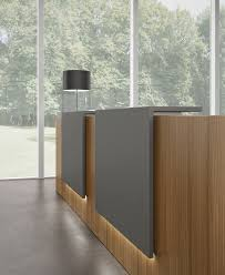 z2 reception desk with integrated light half moon table light by karbo