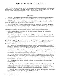 Property Management Agreement Doc Gtld World Congress