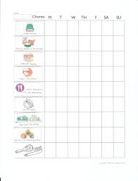 10 Paradigmatic 5 Year Old Chore Chart With Pictures