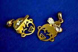 14k yellow or white gold boy or girl cz pendant