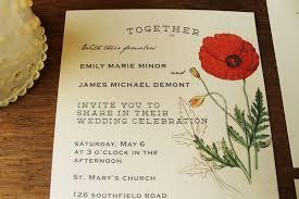 Wedding Picture Poppy Wedding Invitation