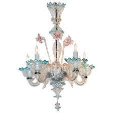 antique multi color venetian chandelier for