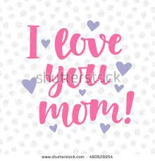 I Love You Mom Quotes Enchanting I Love You Mom Poster Cute Stock Vector Royalty Free 48
