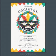 Free Carnival Poster Template Colorful Carnival Flyer Template Vector Free Download