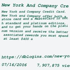 This rewards program is provided by new york & company and its terms may change at any time. Nyco Credit Card Login