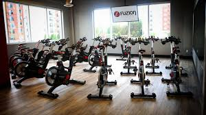 stationary bikes in a room