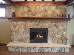 ... Charming Image Of Home Interior Design And Decoration With Various Stone  Fireplace : Cute Picture Of ...