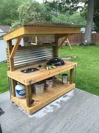 astounding simple outdoor kitchen best 25 ideas on