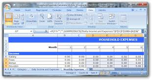Monthly Expenses Calculator Monthly Expense Calculator Excel Under Fontanacountryinn Com