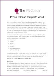 Press Release Templet Template Press Release Beautysfood Info