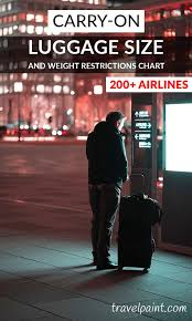 Carry On Luggage Size And Weight Restrictions Chart 200