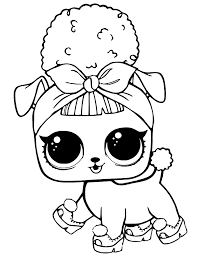 Lol Dolls Coloring Pages Free Printable Lol Surprise