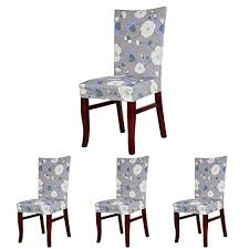 colorbird elegant fl spandex fabric chair slipcovers removable universal stretch elastic chair protector covers for dining room hotel banquet