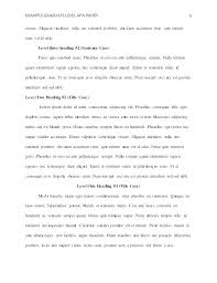 Essay Apa Format Examples Compare And Contrast Essay Apa Format Example Sample Outline