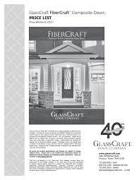 glasscraft fiberglass list 2018 page 2 3 created with about glasscraft door company