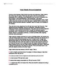 virgin atlantic aims and objectives virgin atlantics mission  page 1 zoom in