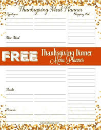 Thanksgiving Meal Planner Template Madebyforay Co