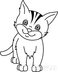 black and white cat clipart. Cat Clipart Black And White In