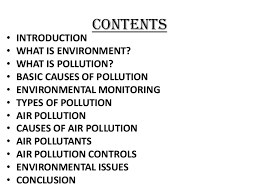 seminar on environmental issues air pollution and controls