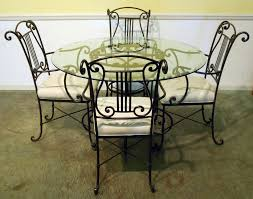 Iron Table And Chairs Set Glass Table Set Glass Dining Roo Spectacular Glass Dining Room