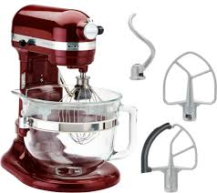 T KitchenAid 6qt 575 Watt Glass Bowl Lift Stand Mixer W Flex Edge U0026 Recipes   Page 1 U2014 QVCcom