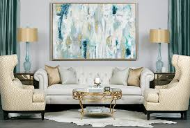 fabulous blend of teal and gold in the living room design high fashion home