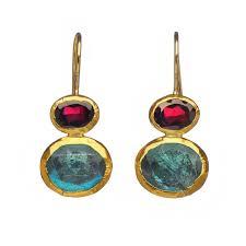 Nava Zahavi Jewelry Design Treasure Garnet And Labradorite Earrings By Nava Zahavi