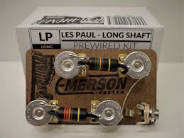 emerson custom les paul long shaft prewired kit