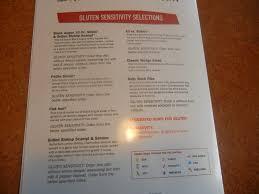 gluten free menu at tgi fridays