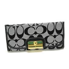 Color  Coach Kristin In Signature Large Grey Wallets DVM ...