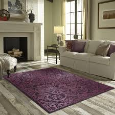 Purple Living Room Rugs Beautiful Purple Area Rugs Rectangular Shaped Nylon Material
