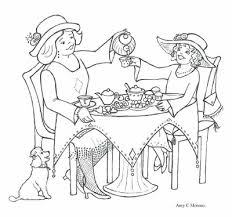 Small Picture Color It In Tea Party Coloring Page