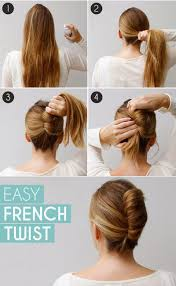 French Twist Hair Style long hair french twist bun in few minutes step by step 1537 by stevesalt.us