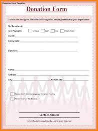 Sample Donation Form Sample Sponsorship Letter For Donations Template Business