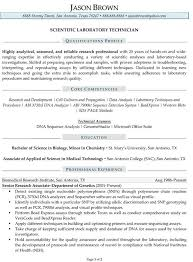 Scientist Resume Examples Resume And Cover Letter Resume And