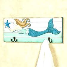 beach wall art for bathroom sea themed wall art medium size of wall mermaid wall decor