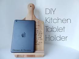Kitchen Tablet Holder Diy Tablet Holder Mothers Day Gift Youtube