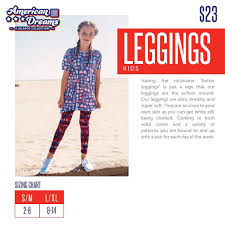Lularoe Leggings Sizing Chart Lularoe American Dreams