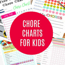 Chore Chart Ideas 10 Free Printable Chore Charts For Kids