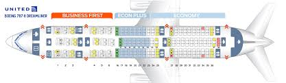 Boeing 787 8 Dreamliner Seating Chart Seat Map Boeing 787 8 United Airlines Best Seats In Plane