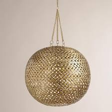 brass disc hanging pendant lamp world