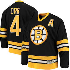 Black Jersey Boston Orr Throwback Authentic Men's Bobby Bruins Ccm Heroes Hockey Of