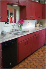 Red And Yellow Kitchen Kitchen Red Cabinets Under Countertop Exquisite Big Red Kitchen