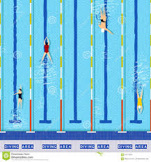 olympic swimming pool lanes. Athlete Illustration Pool Silhouettes Top Vector View Empty Lane Swim Olympic Swimming Lanes E