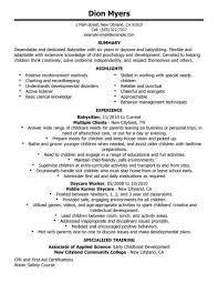 resume babysitting sample babysitting sample resume