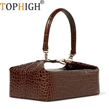evening bags purses patterns promo codes tophigh crocodile pattern box bag women leather handbag vintage