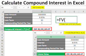 Calculate Compound Interest In Excel How To Calculate