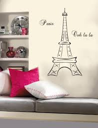 Eiffel Tower Bedroom Decor French Inspired Quirky Cool Parisian For Paris  Theme Wall Art (Image
